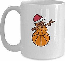 Basketball-Schneemann-Weihnachtsbecher - weiße