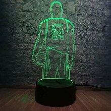 Basketball Spieler 3D Kobe Jersey Sport LED