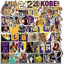 Basketball-Stern-Aufkleber, Kobe Black Mamba,