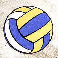 Basketball Volleyball Fußball Rutschfester runder Teppich , 80*80 , volleyball
