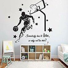 Basketball Wandaufkleber Blumenkorb Aufkleber