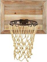 Basketball-Wandkorb aus Tannenholz 56x68