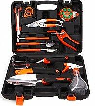 Basong 12pcs Gartenwerkzeug Gartengeräte Set Werkzeugset für Gartenarbei