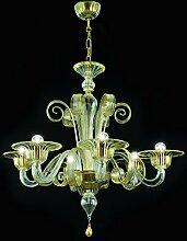 Bassa Laguna Kronleuchter aus Murano-Glas 6-armig