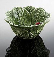 Bassano italienische Keramik runde Beistell- Schale mit Marienkäfer 15x7