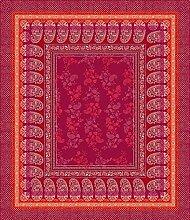 Bassetti Monte Rosa V1 Tischdecke, Baumwolle, Rot,