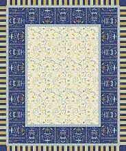 Bassetti OPLONTIS Tischdecke, Baumwolle, blau, 150
