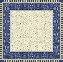 Bassetti OPLONTIS Tischdecke, Baumwolle, Blau, 170