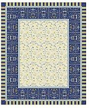 Bassetti OPLONTIS Tischdecke Baumwolle Blau 170 x