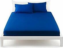 Bassetti Pop Color Bettlaken von oben Bett Betten 180x 290cm–Uni Kornblumenblau
