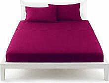 Bassetti Pop Color Bettlaken von oben Bett Betten 180x 290cm–Uni Porpora