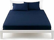 Bassetti Pop Color Bettlaken von oben Bett Doppelbett 240X 290cm–Uni blau