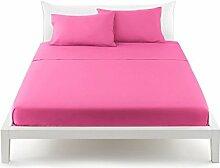 Bassetti Pop Color Bettlaken von oben Bett Doppelbett 240X 290cm–Uni fuchsia