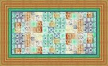 Bassetti Vietri Tischdecke, Baumwolle, Beige, 150 x 250 x 1 cm