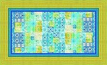 Bassetti Vietri Tischdecke, Baumwolle, Blau, 150 x 250 x 1 cm