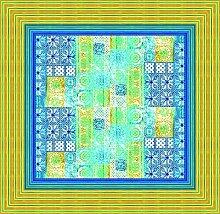 Bassetti Vietri Tischdecke, Baumwolle, Blau, 170 x 170 x 1 cm