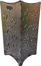 Baßner Holzbau Feuerkorb Feuersäule Gartenfeuer Flamm, edelrost, 35x35x75 cm, 2016-1348-AR