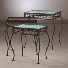 Bastelmaxi Mosaiktisch Tischrohling Tisch 3-er Set