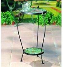 Bastelmaxi Mosaiktisch Tischrohling Tisch rund Durchmesser 30 cm 2-stufig, schwarz