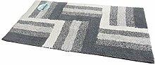 Batex Badteppich Duo Multicolor grau/Silber 50x90cm