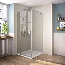 Bath-mann 100 x 80 cm Eckeinstieg Duschkabine