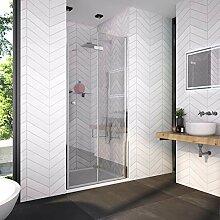 Bath-mann 80 x 185 cm Duschkabine Falttür