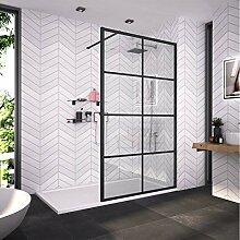 Bath-mann Duschwand Glas Duschabtrennung 120 x 200