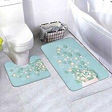 Bath Mat Set Design Bouquet Spring Text Bouquet 2