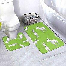 Bath Mat Set Donkey Andalusian Wallpaper 2 Piece