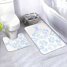 Bath Mat Set Wedding Dress Design 2 Piece Area Rug
