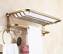BATHAE Bad Handtuch Regal mit Haken, Alle Kupfer