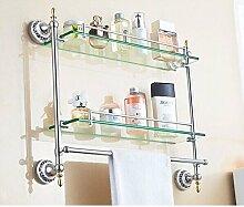 BATHAE Badezimmer Regal mit Dual Ausgeglichenes