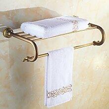 BATHAE Badezimmer Regal Regal mit Handtuchhalter,