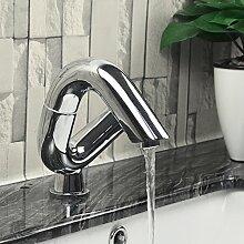 Bathaeo Bad Armatur, 360 Grad Drehbar, Waschbecken, Warm Und Kalt Wasserhahn