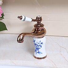 Bathaeo Im Europäischen Stil Kupfer Wasserhahn, Spüle, Waschbecken, Waschbecken Wasserhahn, Blau