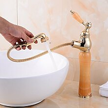 Bathaeo Mix Wasserhahn, Classic All Bad Armatur Aus Messing, Goldgelb Jade Gemisch
