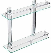 Bathroom rack Doppel-Glasregal Wandregal für