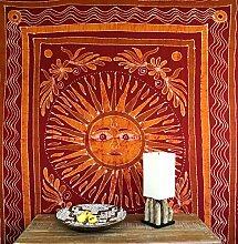 Batikbild Sonne Tagesdecke 8 / Batikbild Tagesdecken