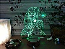 Batman 3D Farbwechsel Licht Lampe Kinder