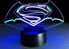 Batman 3D Nachtlicht Optische Täuschung Lampe LED