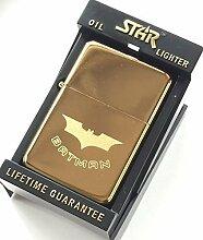 Batman Gold Star Feuerzeug in 59 mm-Button (Tg27)