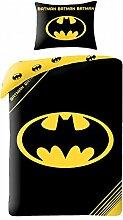 Batman Logo Schwarz Einzelne Bettwäsche Cover und