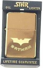 Batman Star Gold Benzin Feuerzeug (T27) + 59mm