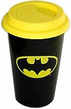 Batman travel Mug, Coffee-To-Go-Becher Logo, aus