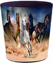 Batop Papierkorb, 10L PU Leder Wasserdicht Vintage