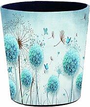 Batop Papierkorb, 10L Wasserdicht PU Leder Vintage