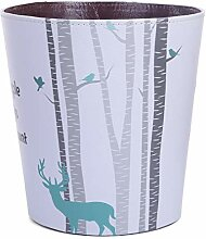 Batop Papierkorb Kinder, 10L PU Leder Wasserdicht