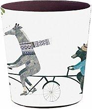 Batop Papierkorb mit Tier Motiv, 10 L Wasserdicht