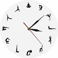 Batteriebetriebene Digitale Wanduhr Yoga Wissen