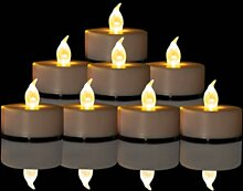 Batteriebetriebene flammenlose Teelichter: 24